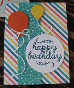 My Paper Pumpkin - Birthday Bundle Balloons Card by Barb Mann - Cards and Paper Crafts at Splitcoaststampers