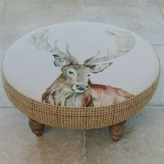 Voyage Maison Mr Stag Footstool available now at Curiosity Interiors, Alfreton.