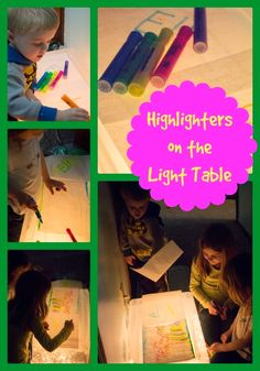 Life with Moore Babies: Highlighter Drawing on the Light Table