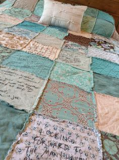 WEDDING QUILT // Guest Book // Autograph Rag by NorthernCottage