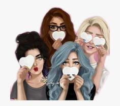#mädchen #girl #bffs #friends #bestfriends #abf #remixit - Friends Cartoon Girl 4, HD Png Download , Transparent Png Image - PNGitem
