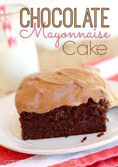 chocolate mayonaise cake...yum!!
