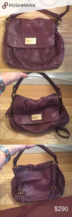 MARC BY MARC JACOBS CLASSIC Q Classic Q Lil Ukita Cardamon Brown Cross Body Bag. Light used but almost in new condition. Great leather bag that can fit everything. Can be worn on arm or shoulder. Classic Marc Jacobs bag. Marc by Marc Jacobs Bags Hobos