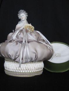 Redesigned Antique Half Doll Powder Box Boudoir by KISoriginals