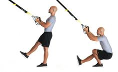Don't have the time for an elaborate weight session at the gym? Try this short but effective TRX workout.