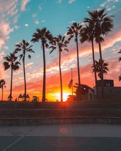 por do sol Los Angeles✨ //wallpaper Visit California, California Travel, Sunrise Wallpaper, Los Angeles California, Travel Usa, Palm Trees, Travel Photography, Scenery, Instagram
