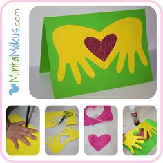 """Lovely Mothers day craft...thinking of doing these on an apron or tea towels with paint. """"Grandma's Helping Hands"""" :)"""