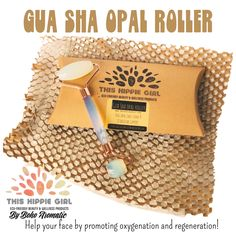 """Our brand """"This Hippie Girl"""" has officially launched the Gua Sha Opal Roller!!! 👏👏👏👏 ! #guasha #ecofriendly #facecaretools #newproductalert #amazonfinds #newproductlaunch 🚀 #guashamassage #guashafacial #facialroller Amazon Prime 🇺🇸and www.BohoAromatic.com"""