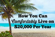 How To Live Comfortably on $20,000 Per Year