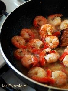 045 krewetki z czosnkiem, chili i rozmarynem V1 Shrimp, Food And Drink, Meat