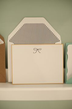 bow card with striped liner from Sugar Paper