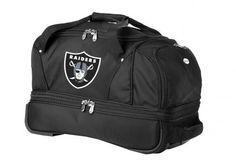 NFL Oakland Raiders Rolling Soft Luggage, Black, 22-Inch by Denco. $64.99