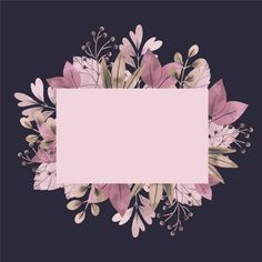 Empty banner with winter flowers Free Ve. Floral Wallpaper Iphone, Flower Background Wallpaper, Framed Wallpaper, Flower Backgrounds, Background Patterns, Wallpaper Backgrounds, Logo Background, Backgrounds Free, Pink Glitter Background