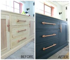 That's My Letter: Sideboard Makeover with @decoart Chalky Finish paint #decoartprojects #chalkyfinish