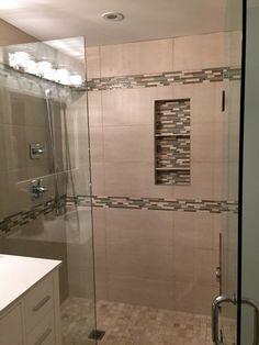 Shower - Glass Tile Border