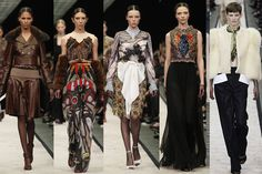 Though the Givenchy show is never one to miss in Paris, this season was particularly punctuated with celebrities including Kendall Jenner who made yet another bleached brow runway appearance. Taking a more exotic approach to fall, Riccardo Tisci focused in on neutral tones, skins, and furs and got in touch with our wild side.   - ELLE.com