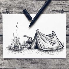 Since I'm still sick. I haven't been able to draw today eather. So here is another TB for today, I really hope to be able to sit up and… 3d Art Drawing, Mandala Drawing, Cool Art Drawings, Art Drawings Sketches, Black Pen Drawing, Dotted Drawings, Pencil Art Drawings, Art And Illustration, Ink Illustrations