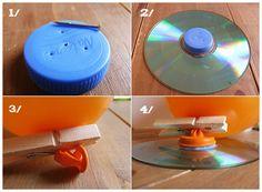 Un aéroglisseur est un véhicule qui glisse sur la terre et sur l'eau grâce à du vent. On dirait qu'il vole !  Voici un petit bricolage pour comprendre comment ça fonctionne.