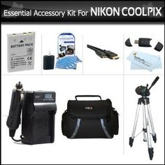 Essential Accessory Kit For Nikon COOLPIX P100 P500 P510 P520 Digital Camera Includes Extended (1100 Mah) Replacement Nikon EN-EL5 Battery + AC/DC Charger + USB 2.0 Card Reader + Case + Mini HDMI Cable + Full Tripod w/ Case + LCD Screen Protectors + More by ButterflyPhoto. $29.95. This Kit Includes Some Of The Essential Accessories You Need To Take Full Advantage Of Your New Nikon Coolpix Nikon Coolpix P100 P500 P510 P520 Digital CameraUPDATE TO THIS KIT AS OF 2/10/...