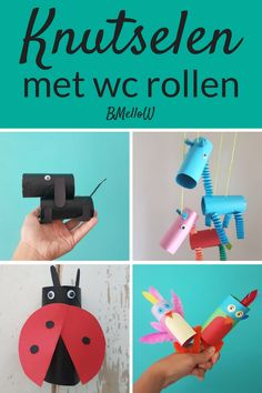 Crafting with toilet rolls. Super fun ideas for tinkering with toilet rolls Sea Crafts, Bible Crafts, Diy And Crafts, Fun Craft, Craft Activities For Kids, Diy For Kids, Crafts For Kids, Kids Daycare, Toilet Paper Roll Crafts