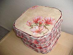 veronica / papierovy košík s vrchnáčikom