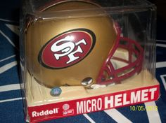 SAN FRANCISCO 49ERS NEW IN BOX RIDDELL NFL FOOTBALL MINIATURE/MICRO HELMET