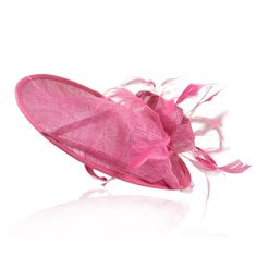 Dark Pink Bow and Feather Fascinator Hat is just £24.99 | Crystal Bridal Accessories - www.crystalbridalaccessories.co.uk