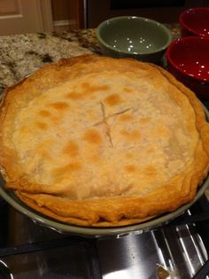 Best ever chicken pot pie recipe. So easy and delicious!