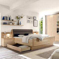 Letto matrimoniale / standard / moderno / in legno MIRA Loddenkemper GmbH & Co. KG