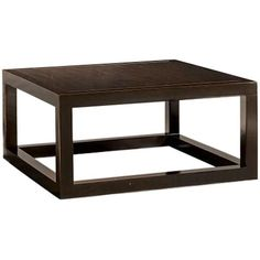 Bernhardt Occasional, Coffee Tables, Brunello Cocktail Table, Brown, Wood, Square, Dark wood, Contemporary