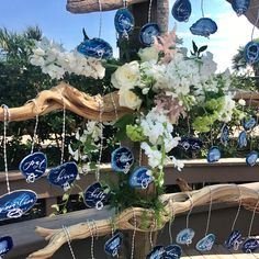 It's all in the #decor including #table #seating assignments. Beautiful #caligraphy on crystal rocks. Hilton Head Island weddings at it's finest!
