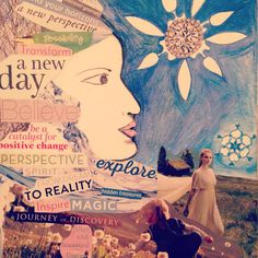 Mixed media inspiration for next Creative Visioning workshop on Jan. Collage Making, New Perspective, Mixed Media, Workshop, Explore, Movie Posters, Inspiration, Art, Biblical Inspiration