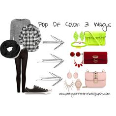 """""""Pop of #Color: 3 Ways"""" by shawnnamshellington on Polyvore Fashion Advice for someone seeking advice"""