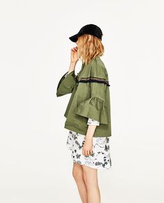 Image 5 of JACKET WITH FRILLED SLEEVES from Zara
