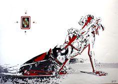 Awareness by Ceyda Caba Kağıt üzerine Mürekkep, Kalem ve #Kolaj / Ink, Pen and #Collage on Paper 100cm x 70cmm  #gallerymak #sanat #resim #cizim #kadın #figuratif #tablo #sanatsal #ig_sanat #iskambil #sembol #sergi #ressam #cagdassanat #oyun #şans #contemporaryart #art #arte #kunst #instaart #artlovers #artcollectors #çizim #drawing