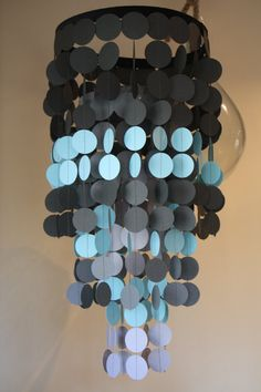 Choose your colors paper chandelier or by PerpetualMotionDecor, $44.00