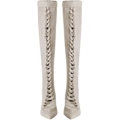 ZIMMERMANN Lace Up Long Boot ($1,250) ❤ liked on Polyvore featuring shoes, boots, over-the-knee boots, knee-high lace-up boots, thigh high heel boots, over-the-knee lace-up boots, thigh high leather boots and over the knee boots