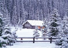 cabins in the snow - Google Search