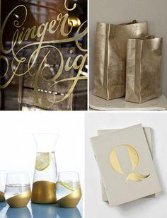 modern gold {colour commentary} via plentyofcolour.com