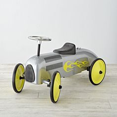 Kids' Toys: Kids' Silver Speedster Ride On Toy | The Land of Nod
