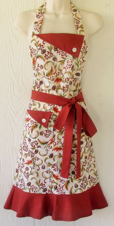 Thanksgiving Apron  Fall Apron  Harvest Apron  by KitschNStyle