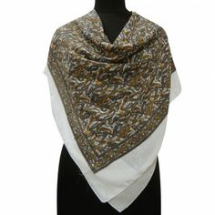 Georgette White Scarf Square Women New Stole Summer Head Shoulder Wrap Sarong White Scarves, Georgette Fabric, Head & Shoulders, Fabric Squares, Paisley Design, Square Scarf, Women Empowerment, Stylish, Shawls