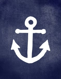 Free Printable Anchor Art  //  Comes in 8.5x11, 8x10, and 5x7!!