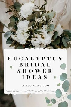 Eucalyptus Wedding Shower Ideas Eucalyptus Bridal Shower Printables Botanical Games and Decorations by LittleSizzle. Are you hosting a botanical themed eucalyptus bridal shower or wedding shower? Then this classy eucalyptus stationery collection with watercolor leaves is perfect for you! The collection includes eucalyptus bridal shower games and decorations. Print at home or at your favorite print shop. Instant download. #eucalyptusbridalshowerideas #eucalyptusweddingshowerdecorations #botanical Winter Wedding Flowers, Rustic Wedding Flowers, Wedding Gifts For Bridesmaids, Bridesmaid Ideas, Printable Bridal Shower Games, Bridal Shower Invitations, Garden Bridal Showers, Unique Bridal Shower, Eucalyptus Wedding