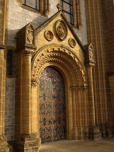 West door of Buckfast Abbey, UK