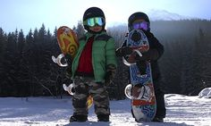All the young dudes … Snowboard Coaching Weeks for four to eight-year-olds in Morzine, France