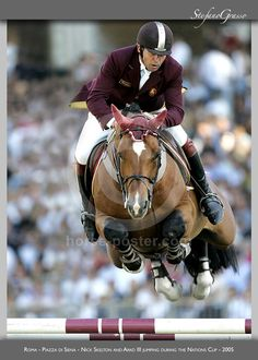 Cod. SG00155  Roma - Piazza di Siena - Nick Skelton and Arko III jumping during the Nations Cup - 2005