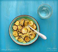Sajtos tortellini leves sült cukkinivel/  Cheese tortellini soup with roasted zucchini