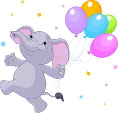 Illustration of Happy Very Cute baby elephant with balloons vector art, clipart and stock vectors. Flying Elephant, Cute Baby Elephant, Elephant Elephant, Elephant Illustration, Medical Illustration, Funny Babies, Cute Babies, Elephant Balloon, Balloon Clipart