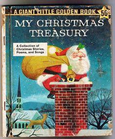 Vintage 1957 My Christmas Treasury Holiday Is Coming Stories Poems Songs Retro Xmas Santa Claus VINTAGE CHRISTMAS SANTA COLORING BOOK